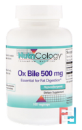 Ox Bile, Nutricology, 500 mg, 100 Vegicaps