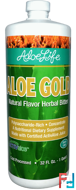 Aloe Gold, Natural Flavor Herbal Bitter, Aloe Life International, Inc, 32 fl oz (1 Quart)