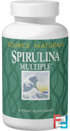 Spirulina Multiple, Source Naturals, 100 Tablets