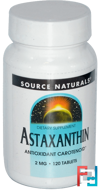 Astaxanthin, 2 mg, Source Naturals, 120 Tablets