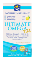 Ultimate Omega Xtra, Lemon, 1,000 mg, Nordic Naturals, 60 Soft Gels