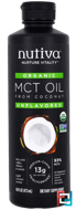 Organic MCT Oil From Coconut, Unflavored, Nutiva, 16 fl oz (473 ml)