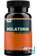 Melatonin, Optimum Nutrition, 3 mg, 100 tablets