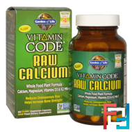 Vitamin Code, Raw Calcium, Garden of Life, 60 UltraZorbe Vegetarian Capsules