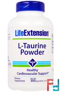 L-Taurine Powder, Life Extension, 300 g