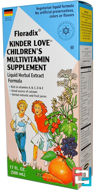 Floradix, Kinder Love, Children's Multivitamin Supplement, Flora, 17 fl oz, 500 ml