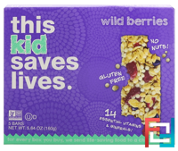 Kid, Wild Berries, This Bar Saves Lives, LLC, 5 Bars, 5.64 oz (160 g)