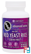 Advanced Series, Red Yeast Rice, Advanced Orthomolecular Research AOR, 30 Softgels