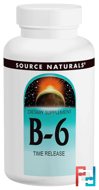 B-6, 500 mg, Source Naturals, 100 Tablets