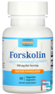 Forskolin, Advance Physician Formulas, 100 mg, 10%, 60 Capsules