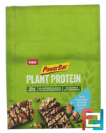 Plant Protein, Dark Chocolate Almond Sea Salt, PowerBar, 15 Bars, 1.76 oz (50 g) Each