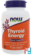 Thyroid Energy, Now Foods, 90 Veg Capsules