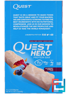 Hero Protein Bar, Blueberry Cobbler, Quest Nutrition, 10 Bars, 2.12 oz (60 g) Each