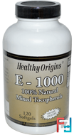 E-1000, Healthy Origins, 120 Softgels