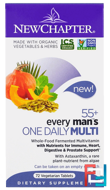 55+ Every Man's One Daily Multi, New Chapter, 72 Veggie Tabs