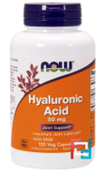 Hyaluronic Acid, Now Foods, 50 mg, 120 Veg Capsules