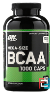 BCAA 1000 Caps,  Optimum Nutrition, 1000 mg, 400 capsules