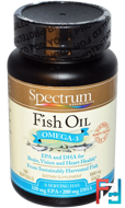 Fish Oil, Omega-3, Spectrum Essentials, 1000 mg, 100 Softgels