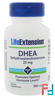 DHEA, 25 mg, Life Extension, 100 Capsules