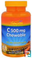 C500 mg Chewable, Natural Orange Flavor, Thompson, 60 Chewables