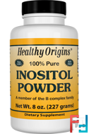 Inositol Powder, Healthy Origins, 8 oz, 227 g