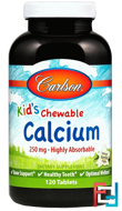 Kid's Chewable Calcium, Vanilla, Carlson Labs, 120 Tablets