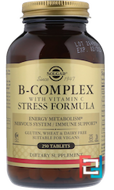 B-Complex with Vitamin C Stress Formula, Solgar, 250 Tablets