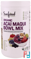 Organic, Acai Maqui Bowl Mix, Sunfood, 14 oz, 397 g