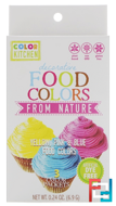 Decorative, Food Colors From Nature, ColorKitchen, 3 Color Packets, 0.24 oz (6.9 g)