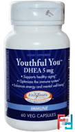 Youthful You, DHEA, 5 mg, Enzymatic Therapy, 60 Veggie Caps