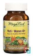 Multi for Women 40 +, MegaFood, 60 Tablets