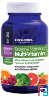 Enzyme Nutrition Multi-Vitamin, Women's 50+, Enzymedica, 120 Capsules