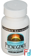 Pycnogenol, 100 mg, Source Naturals, 60 Tablets