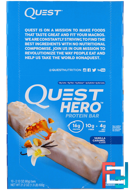 Vanilla Caramel, Quest Nutrition, Hero Protein Bar, 10 Bars, 2.12 oz (60g) Each