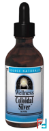 Wellness, Colloidal Silver, 30 PPM, Source Naturals, 8 fl oz (236.56 ml)