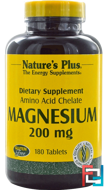 Magnesium, Nature's Plus, 200 mg, 180 Tablets
