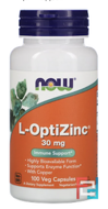L-OptiZinc, 30 mg, Now Foods, 100 Veg Capsules