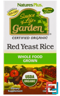 Source of Life Garden, Organic Red Yeast Rice, Nature's Plus, 60 Veggie Caps