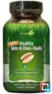 Healthy Skin & Hair Plus Nails, Irwin Naturals, 60 Liquid Soft-Gels
