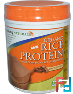Organic Raw Rice Protein, Growing Naturals, 476 g