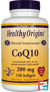 CoQ10, Kaneka Q10, Healthy Origins, 200 mg, 150 Softgels