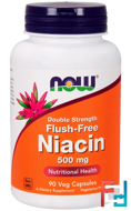 Flush-Free Niacin, Double Strength, 500 mg, Now Foods, 90 Veg Capsules