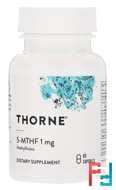 5-MTHF, 1 mg, Thorne Research, 60 Vegetarian Capsules