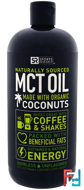 MCT Oil from Non-GMO Coconuts, Unflavored, Sports Research, 32 fl oz (946 ml)