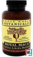 Royal Maca, Whole World Botanicals, 500 mg, 180 Gel Caps
