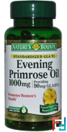 Evening Primrose Oil, Nature's Bounty, 1000 mg, 60 Rapid Release Softgels