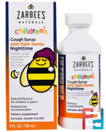 Children's Nighttime Cough Syrup, Natural Grape Flavor, Zarbee's, 4 fl oz (118 ml)