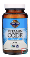 Vitamin Code, Raw One, Once Daily Raw Multi-Vitamin for Men, Garden of Life, 75 UltraZorbe Veggie Caps