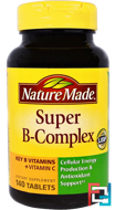 Super B-Complex, Nature Made, 140 Tablets