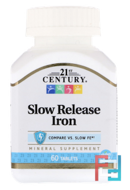 Slow Release Iron, 21st Century, 60 Tablets